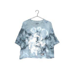 NASA Astronaut Graphic Tie Dye Crop Top T-Shirt
